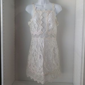 White Embroidered Cocktail Dress